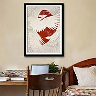 Prints-Dieren Fantasie Illustratie Muurkunst,PVC Materiaal Met frame For Huisdecoratie Ingelijste kunst Woonkamer Slaapkamer Keuken Eetkamer