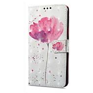 billiga Mobil cases & Skärmskydd-fodral Till Xiaomi Redmi not 5A Redmi Note 4X Korthållare Plånbok med stativ Lucka Magnet Mönster Blomma Hårt för