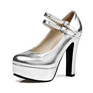 Feminino Sapatos Glitter Couro Ecológico Primavera Outono Conforto Inovador Saltos Salto Alto Dedo Apontado Presilha para Casamento