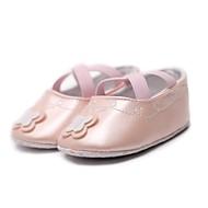 Para Meninas Sapatos Courino Primavera Outono Sapatos de Berço Primeiros Passos Conforto Rasos Apliques Elástico para Casual Ao ar livre