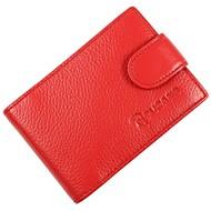 お買い得  Card & ID Holder-牛側 カード&IDホルダー ボタン のために カジュアル オフィス&キャリア オールシーズン ダークレッド
