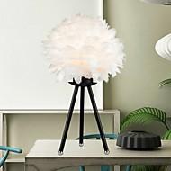 billige Lamper-metallic Moderne / Nutidig Øyebeskyttelse Fjær Bordlampe Til Stue Soverom Metall AC100-240V Hvit