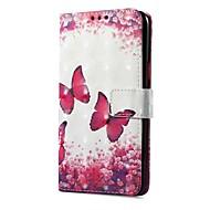 billiga Mobil cases & Skärmskydd-fodral Till Xiaomi Redmi not 5A Redmi Note 4X Korthållare Plånbok med stativ Lucka Magnet Mönster Fjäril Hårt för
