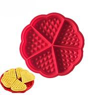 hjerteform vaffel skimmel 5-hulrum silikone ovn pan bagning kage kage muffin madlavning værktøjer