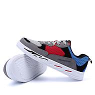 halpa -Naiset Kengät PU Kevät Syksy Comfort Urheilukengät Kävely varten Kausaliteetti Musta Tumman harmaa ja sininen Vaalea sininen ja keltainen