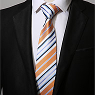 cheap Men's Accessories-Men's Polyester Necktie,Casual Striped All Seasons Yellow