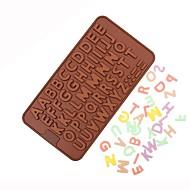 billige Bakeredskap-Cake Moulds Alphabet Shape Kake Til Sjokolade Til Kake Til Småkaker For Godteri silica Gel baking Tool Bursdag Valentinsdag Høsttakkefest
