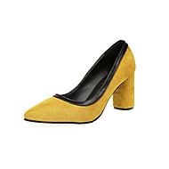 Feminino Sapatos Camurça Verão Plataforma Básica Saltos Caminhada Salto Agulha Dedo Apontado Bico Metálico para Casamento Casual Social