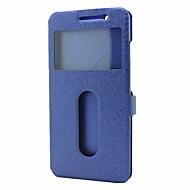 billiga Mobil cases & Skärmskydd-fodral Till Vivo X9 Plus X9 med stativ med fönster Lucka Fodral Ensfärgat Hårt PU läder för Vivo X9 Plus Vivo X9 Vivo X7 Plus Vivo X7