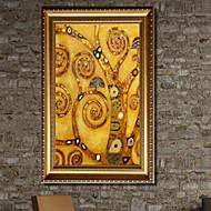 billige Innrammet kunst-Romantik Tegning Veggkunst,Aluminium Legering Materiale med ramme For Hjem Dekor Rammekunst Stue