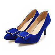 baratos -Feminino Sapatos Pele Nobuck Primavera Outono Conforto Inovador Saltos Salto Agulha Dedo Apontado Laço para Casamento Festas & Noite