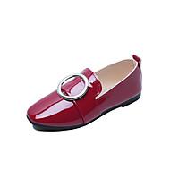 Feminino Sapatos Couro Ecológico Verão Solados com Luzes Rasos Caminhada Sem Salto Dedo Apontado Flor para Casual Branco Preto Vermelho