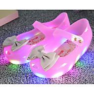 tanie Obuwie dziewczęce-Dla dziewczynek Buty Skóra PVC Wiosna Jesień Comfort Sandały na Casual Orange Niebieski Różowy