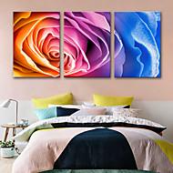 billiga Väggkonst-Kanvas Tryck Rustik Moderna, Tre paneler Duk Vertikal Tryck väggdekor Hem-dekoration