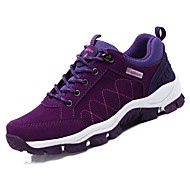 cheap Women's Athletic Shoes-Women's Shoes Suede Spring Fall Comfort Athletic Shoes Hiking Shoes Flat Heel Round Toe for Athletic Black Purple Fuchsia