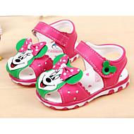 baratos Sapatos de Menino-Para Meninas Para Meninos sapatos Courino Primavera Verão Primeiros Passos Conforto Sandálias para Casual Pêssego Azul Rosa claro