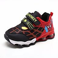 Недорогие -Мальчики обувь Дерматин Весна Осень Удобная обувь Кеды для Повседневные Темно-синий Черный/Красный Тёмно-синий