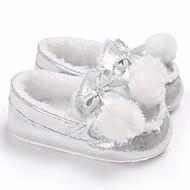 baratos Sapatos de Menina-Para Meninos / Para Meninas Sapatos Couro Ecológico Primavera / Outono Conforto Mocassins e Slip-Ons para Prata / Pêssego / Marron