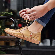 お買い得  メンズオックスフォードシューズ-男性用 靴 PUレザー 冬 コンフォートシューズ オックスフォードシューズ ライトブラウン / ダークブラウン / カーキ色