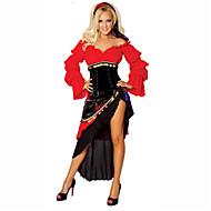Sigøjner Cosplay Kostumer Festkostume Dame Halloween Karneval Oktoberfest Festival / Højtider Halloween Kostumer Rød