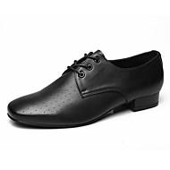 billige Moderne sko-Moderne Lær Oxford Høye hæler Lav hæl Svart Kan spesialtilpasses