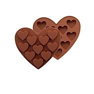 Moldes de bolos Coração para Candy para biscoito para bolo Chocolate Biscoito silica Gel Faça Você Mesmo Dia dos namorados Ano Novo