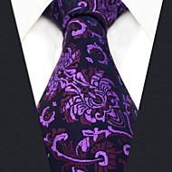 Homme Soirée / Travail Cravate Fleur / Couleur Pleine / Jacquard