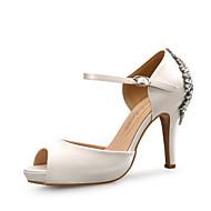 Χαμηλού Κόστους Prom Shoes-Γυναικεία Παπούτσια Λαμπυρίζον Γκλίτερ Μετάξι Άνοιξη Καλοκαίρι Ανατομικό Σανδάλια Τακούνι Στιλέτο Ανοικτή Μύτη Τεχνητό διαμάντι για