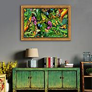 お買い得  額入りアート-動物 花柄/植物の 挿絵 ウォールアート,ポリ塩化ビニル 材料 フレーム付き For ホームデコレーション フレームアート リビングルーム ベッドルーム キッチン ダイニングルーム キッズルーム オフィス