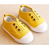 tanie Obuwie dziewczęce-Dla dziewczynek Obuwie Płótno Wiosna / Jesień Comfort / Buty do nauki chodzenia Tenisówki na Yellow / Czerwony / Light Green