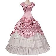 Rococo Victoriaans Kostuum Dames Outfits Roze Vintage Cosplay Taffeta Korte mouw Pof / ballon Grote maten Op maat