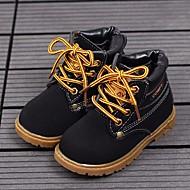Недорогие -Мальчики обувь Искусственное волокно Зима Осень Удобная обувь Армейские ботинки Ботинки Ботинки для Повседневные Черный Желтый Коричневый
