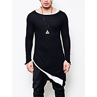 Rund hals Herre - Ensfarvet Punk & gotisk Natklub T-shirt Bomuld