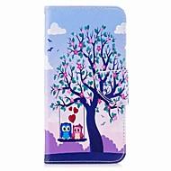 billiga Mobil cases & Skärmskydd-fodral Till Xiaomi Redmi 5 Plus Redmi not 5A Korthållare Plånbok med stativ Lucka Magnet Fodral Träd Uggla Hårt PU läder för Redmi Note