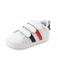 cheap Baby Shoes-Baby Shoes Leatherette Spring Fall Crib Shoes First Walkers Comfort Sneakers Magic Tape for Casual Outdoor White Black Red Green Black/Red
