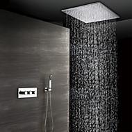 billige Rabatt Kraner-dusj kranen - moderne krom veggmontert keramisk ventil bad dusj mixer kraner