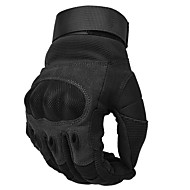Χαμηλού Κόστους -κυνήγι τακτικής υπαίθρια αθλήματα πλήρη δάχτυλο pu δερμάτινα γάντια αντιολισθητικά για κατασκήνωση / πεζοπορία