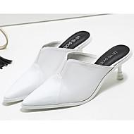 女性用 靴 PUレザー 春 / 秋 コンフォートシューズ 下駄とミュール コーンヒール ホワイト / ブラック / イエロー