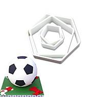 billige Bakeredskap-Cake Moulds Fotball For Godteri Til Kake Til Sjokolade For Småkake Kake Plastikker Rustfritt Stål 430 GDS Valentinsdag Bursdag 3D baking