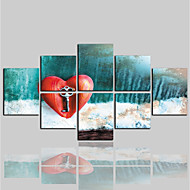 cheap Prints-Canvas Print Comtemporary Classic Modern,More than Five Panels Canvas Horizontal Print Wall Decor Home Decoration