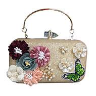 baratos Clutches & Bolsas de Noite-Mulheres Bolsas Courino Bolsa de Festa Apliques / Detalhes em Pérolas Dourado