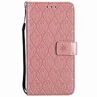 billiga Mobil cases & Skärmskydd-fodral Till Huawei Honor 9 Korthållare Plånbok Stötsäker Ringhållare Lucka Fodral Ensfärgat Hårt PU läder för Honor 9 Honor 6X