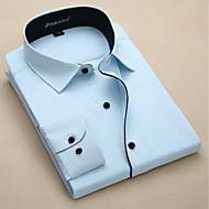 Majica Muškarci,Jednostavan Dnevno Dugi rukav Kragna košulje Proljeće Poliester