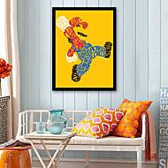 billige Innrammet kunst-Mennesker Tegneserie Tegning Veggkunst,Plastikk Materiale med ramme For Hjem Dekor Rammekunst Stue