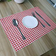 billige Bordduker-Vanlig Polstret Stoff Kvadrat Bordskånere Borddekorasjoner