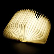 billige Lamper-1pc Bok LED Night Light RGB Innebygd Li-batteridrevet Foldbar Oppladbar Dekorativt lys Med USB-port Enkel å bære Fargeskiftende