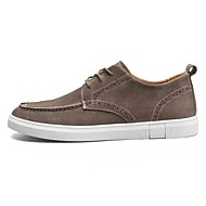 お買い得  メンズオックスフォードシューズ-男性用 靴 春 秋 コンフォートシューズ オックスフォードシューズ のために アウトドア ブラック イエロー カーキ色