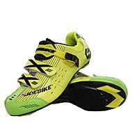 SIDEBIKE Παπούτσια για ποδήλατα δρόμου Ανθρακονήματα Αναπνέει, Αντιολισθητικό, Πολύ Ελαφρύ (UL) Ποδηλασία Κίτρινο / Κόκκινο / Μπλε Ανδρικά Παπούτσια Ποδηλασίας / Πλέγμα που αναπνέει / Γάντζο&Κρίκος