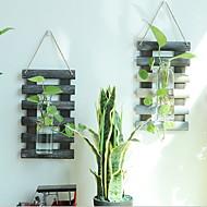tanie Dekoracje ścienne-Dekoracja ścienna Drewniany Szkło Pasterski Wall Art, Znaki ścienne z 1