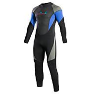Bluedive Herre / Dame Våddragt - heldragt 3mm Neopren Dykkerdragter Hold Varm, Hurtigtørrende Langærmet Bag Lynlås - Svømning / Dykning / Surfing Patchwork / Elastisk